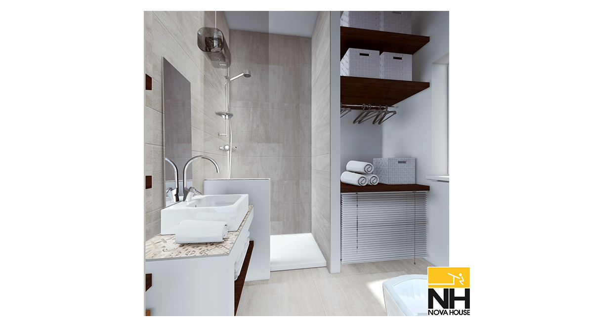 Bagno Con Zona Lavanderia : Bagno con angolo lavanderia novahouse