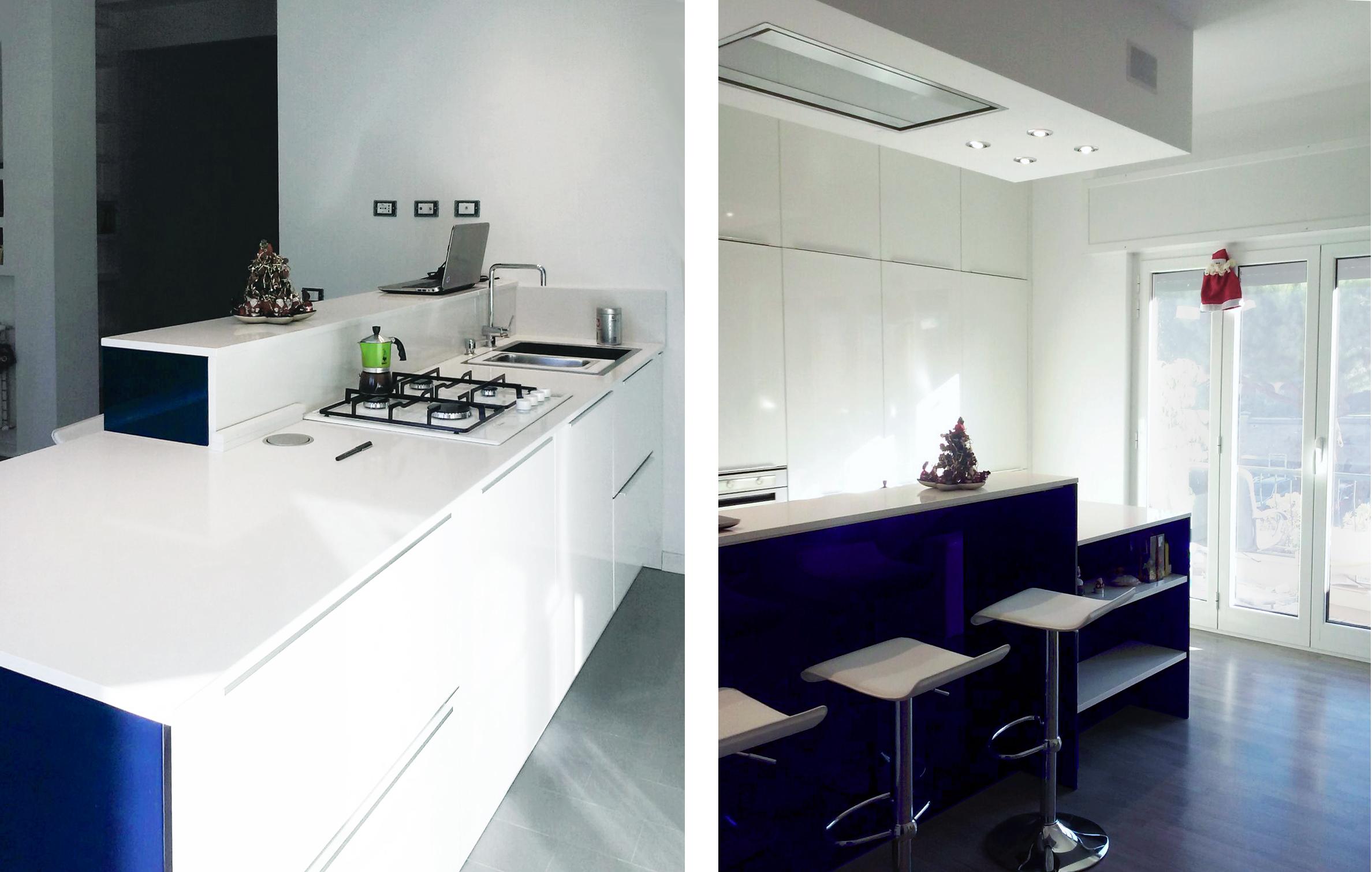 progettare la cucina in linea 2