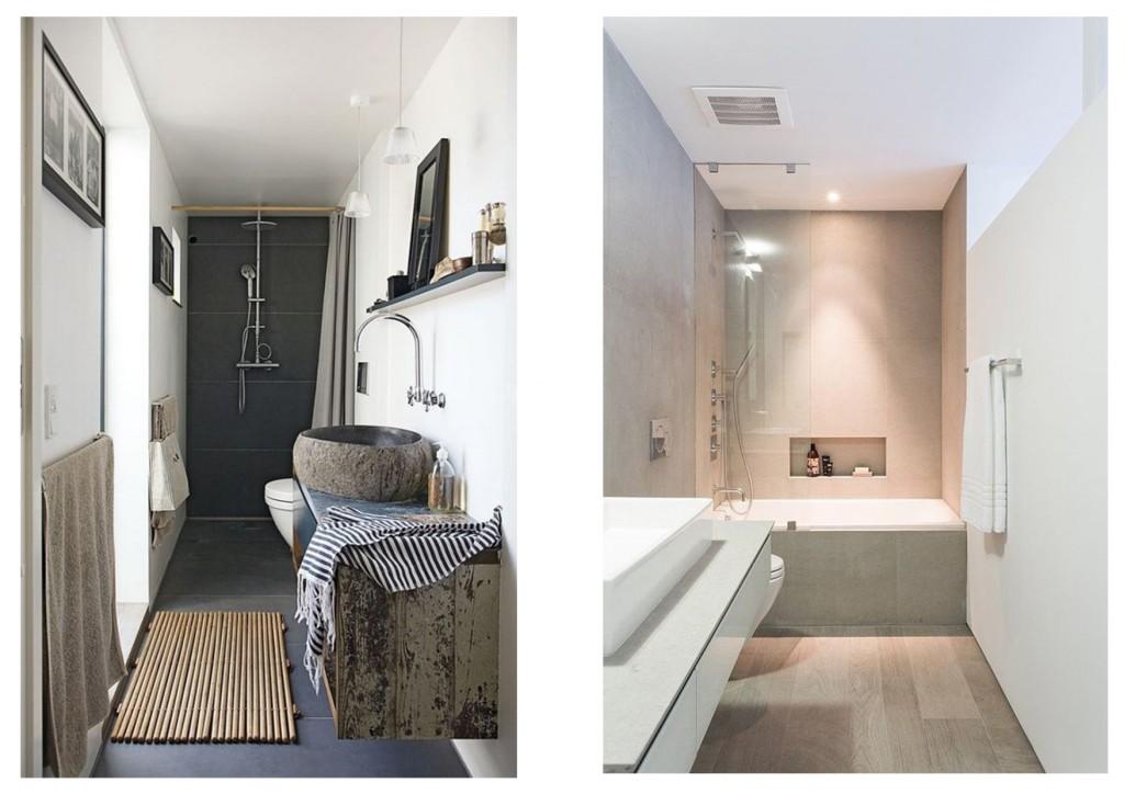 progettare il bagno stretto 1